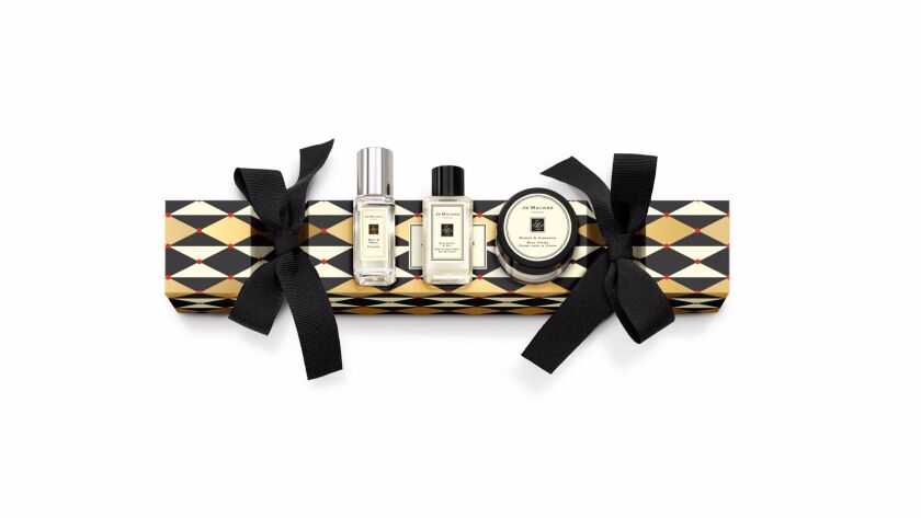 The Christmas Cracker gift set by Jo Malone London ($45) includes Basil & Neroli Cologne, Blackberry & Bay Body & Hand Wash and  Mimosa & Cardamom Body Crème.