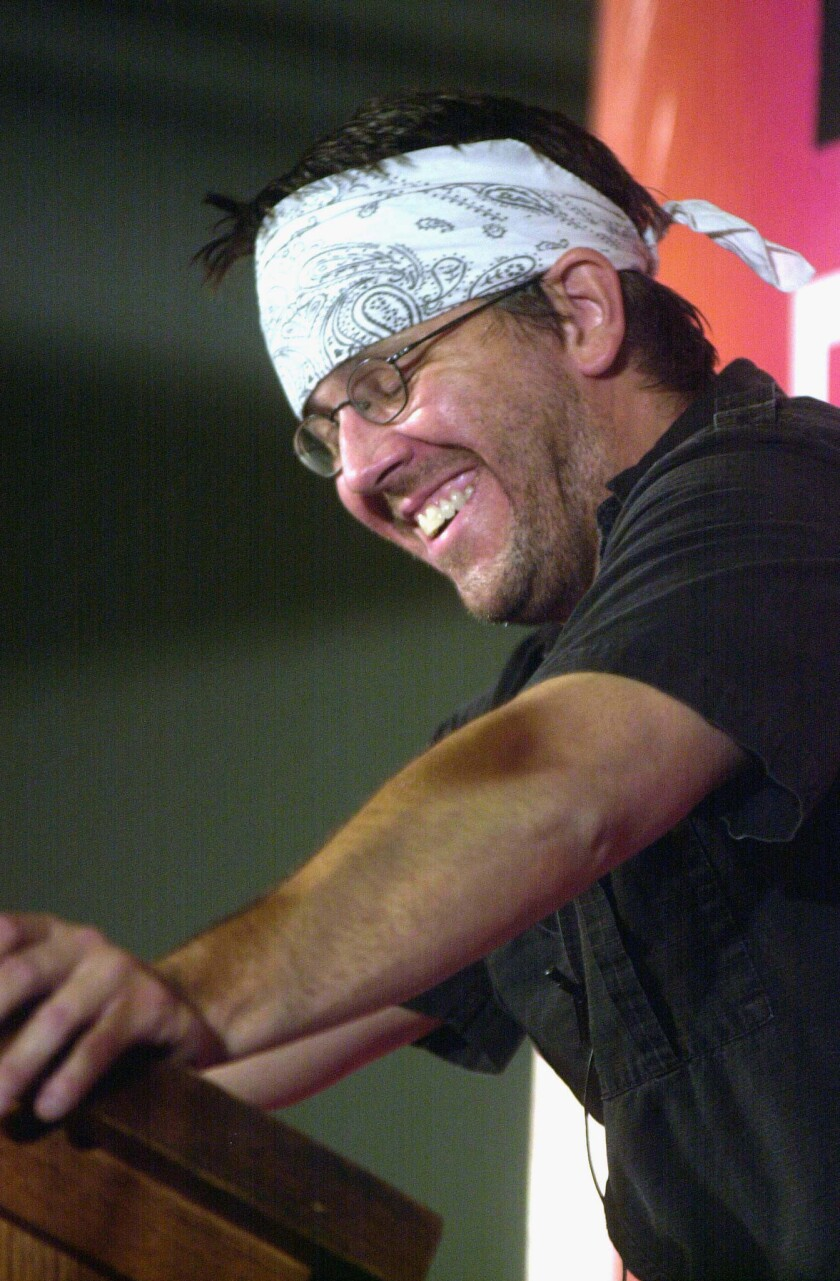 David Foster Wallace, who died in 2008, at the New Yorker Magazine Festival in 2002. His estate does not support or endorse a new film about the writer.