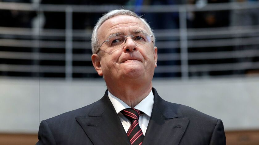 Martin Winterkorn, former CEO of Volkswagen, arrives for a questioning Jan. 19 at an investigation committee of the German federal parliament in Berlin.