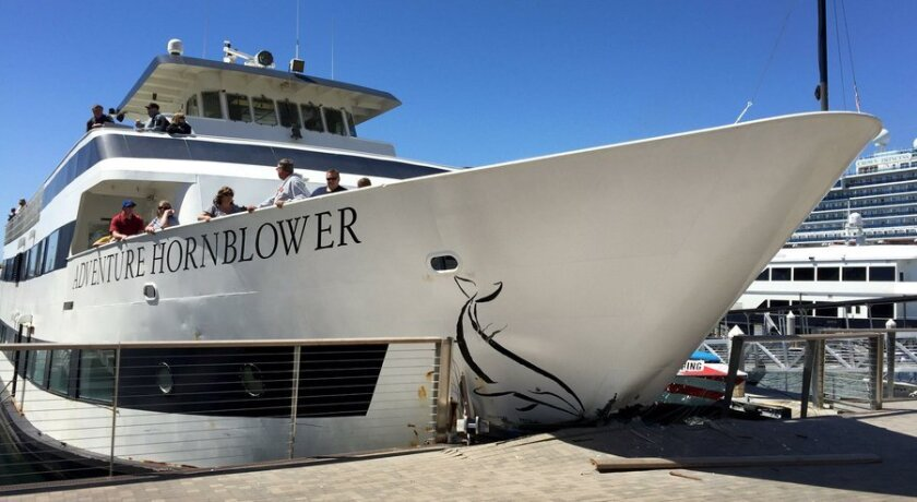 Several passengers were hurt when the Adventure Hornblower cruise ship rammed into the Embarcadero dock in San Diego on Thursday.
