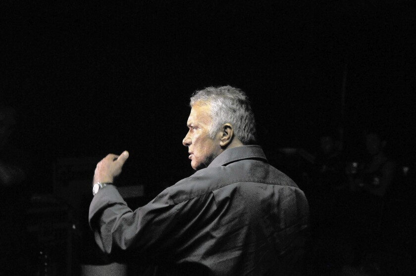 Assi Dayan in 2009; the Israeli cultural icon who was known for both his trailblazing films and troubled personal life died Thursday in Tel Aviv.