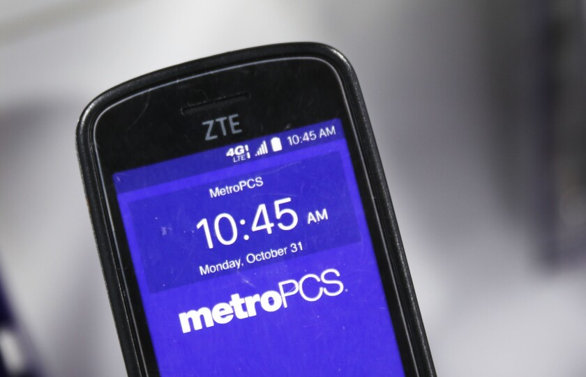 A cell phone manufactured by ZTE, China's number-two smartphone maker, is seen on a store shelf on May 14, 2018 in Miami, Florida. President Donald Trump issued a tweet in support of Chinese telecom giant ZTE and reports indicate that it may be a part of a deal to try and protect US farmers.
