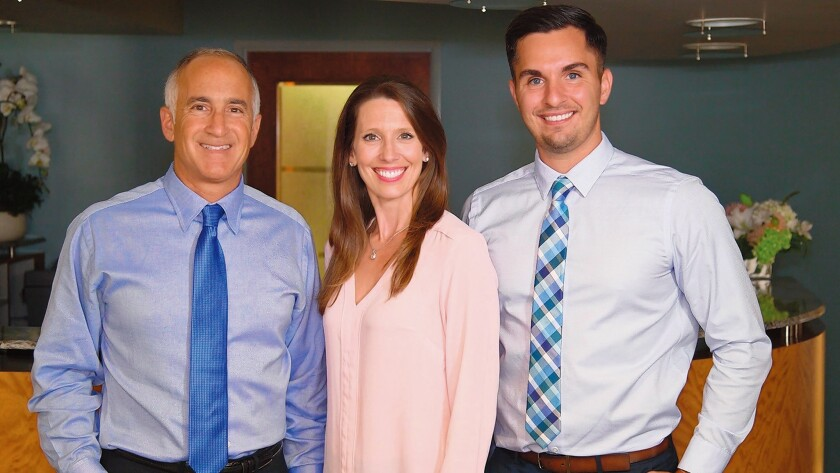 Dr. Joseph D'Angelo, Dr. Ashley Olson and Dr. Ryan Hoffman of La Jolla Dentistry, 1111 Torrey Pines Road, Suite 101, La Jolla. (858) 459-6224. joethedentist.com