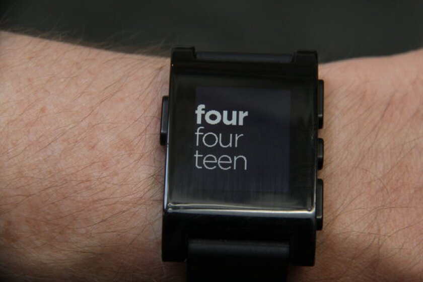 The Pebble smart watch is among several new wearable technologies vying for consumer attention.