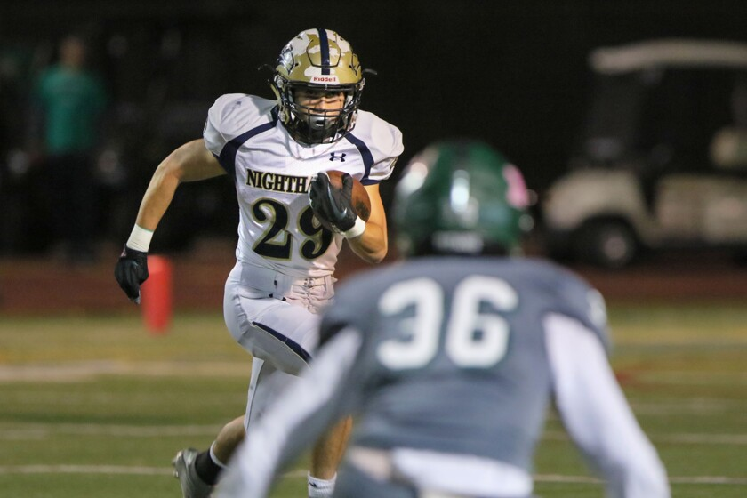 Del Norte's Manai Hazlett — who is battling non-Hodgkin's lymphoma — rushed for a school-record 260 yards in one game last season.