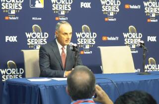 MLB Commissioner Rob Manfred announces Yuli Gurriel's suspension for his actions in Game 3