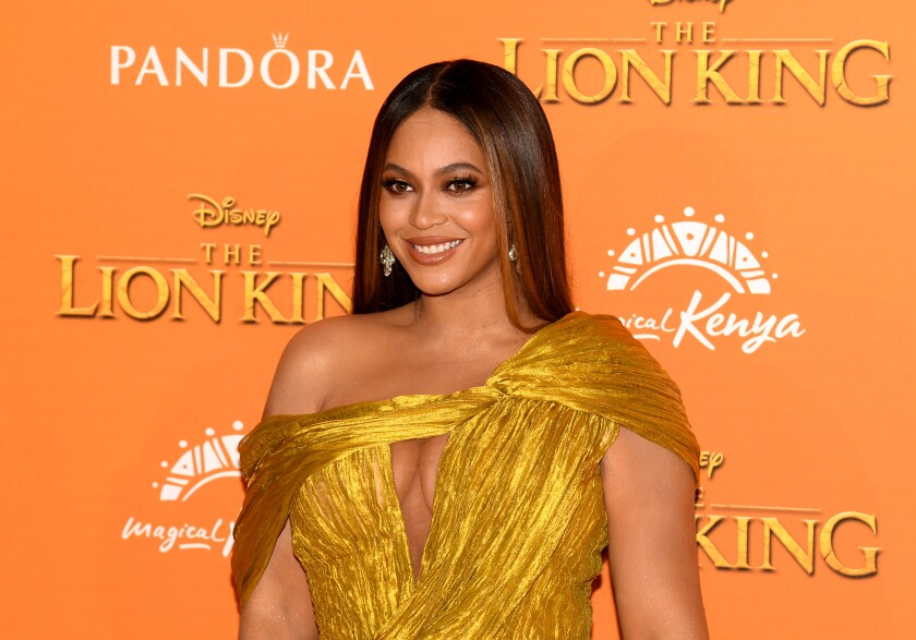 "Beyonce Knowles-Carter at the European premiere of Disney's ""The Lion King"""