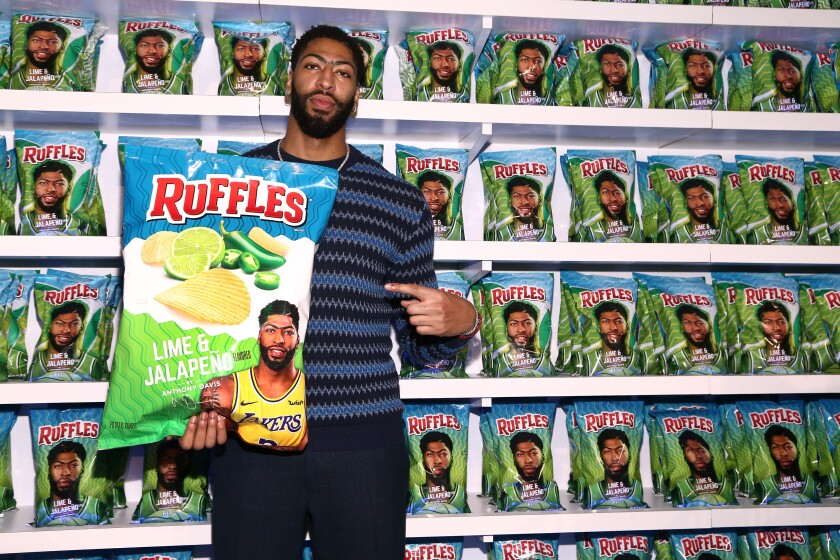 Lakers star Anthony Davis is a big Ruffles fan.