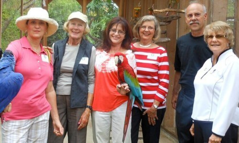"""RSF Garden Club members had the opportunity to meet rare birds at the Sept. 12 """"Coffee in the Garden"""" event held at the home of Shelley and Peter Linde."""