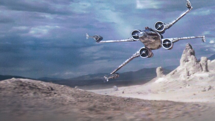 X-wing starfighter (LA Auto Show press conference)