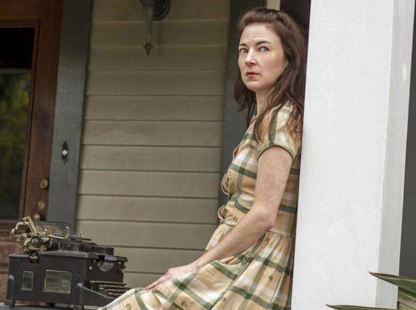 "Jo Anne Glover stars as Zinnia Wells in Moxie Theatre's ""Skinless."""