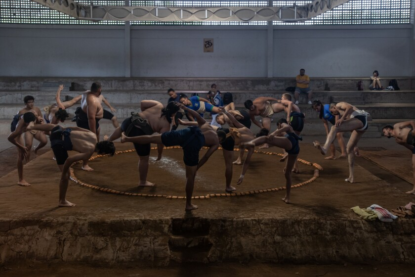 In Brazil, land of beaches and samba, a sumo wrestling academy thrives