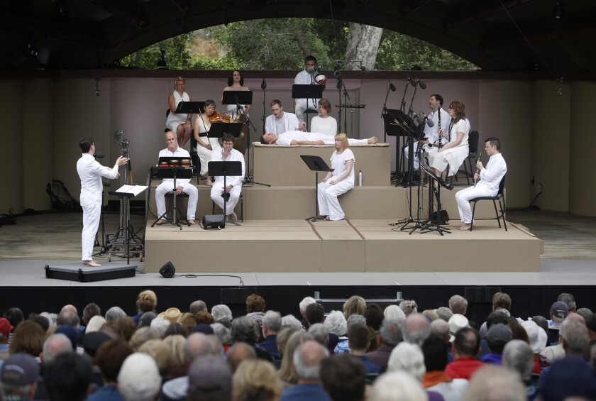 OJAI, CALIF. -- SUNDAY, JUNE 12, 2016: Roomful of Teeth and the International Contemporary Ensemble