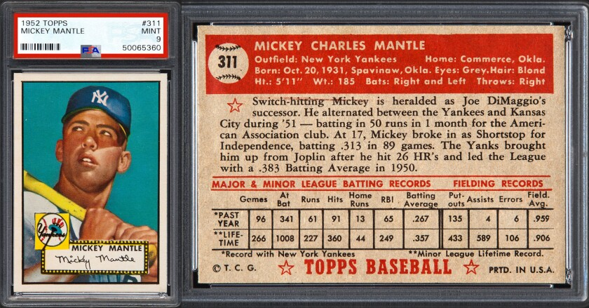 Mickey Mantles Worth Is Gaining Ground On Honus Wagners