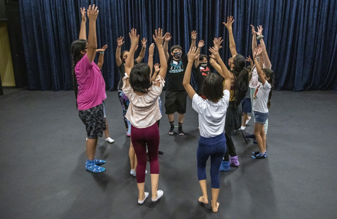 Students dance during weekend classes at Casa 0101 Saturday, July 31, 2021 in Boyle Heights.