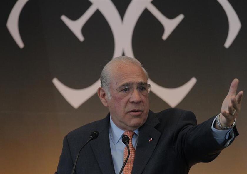 El secretario general de la Organización para la Cooperación y Desarrollo Económicos (OCDE), José Ángel Gurría. EFE/Archivo