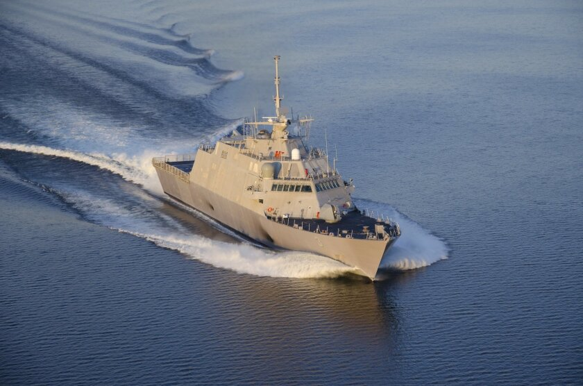 The USS Fort Worth, LCS, the third ship in the Navy's littoral combat ship line.