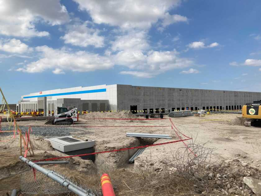 Amazon is building a 702,535-square-foot building in Otay Mesa.