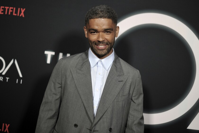 """FILE - Kingsley Ben-Adir attends the premiere of """"The OA"""" Season 2 on March 19, 2019, in Los Angeles. The British actor may not be a household name yet, but that's poised to change with his scene-stealing performance as Malcolm X in Regina King's """"One Night in Miami."""" (Photo by Richard Shotwell/Invision/AP, File)"""