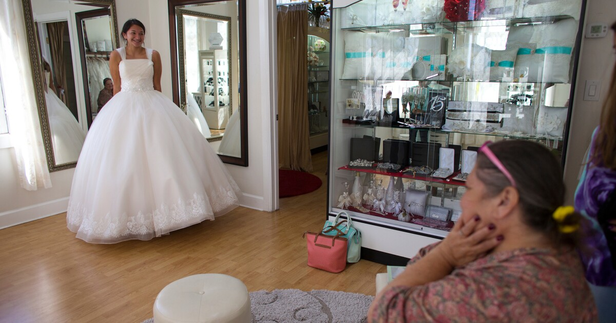 In Downtown Santa Ana Some Latino Merchants Try To Surf Wave Of Gentrification Los Angeles Times,Group Usa Wedding Dresses