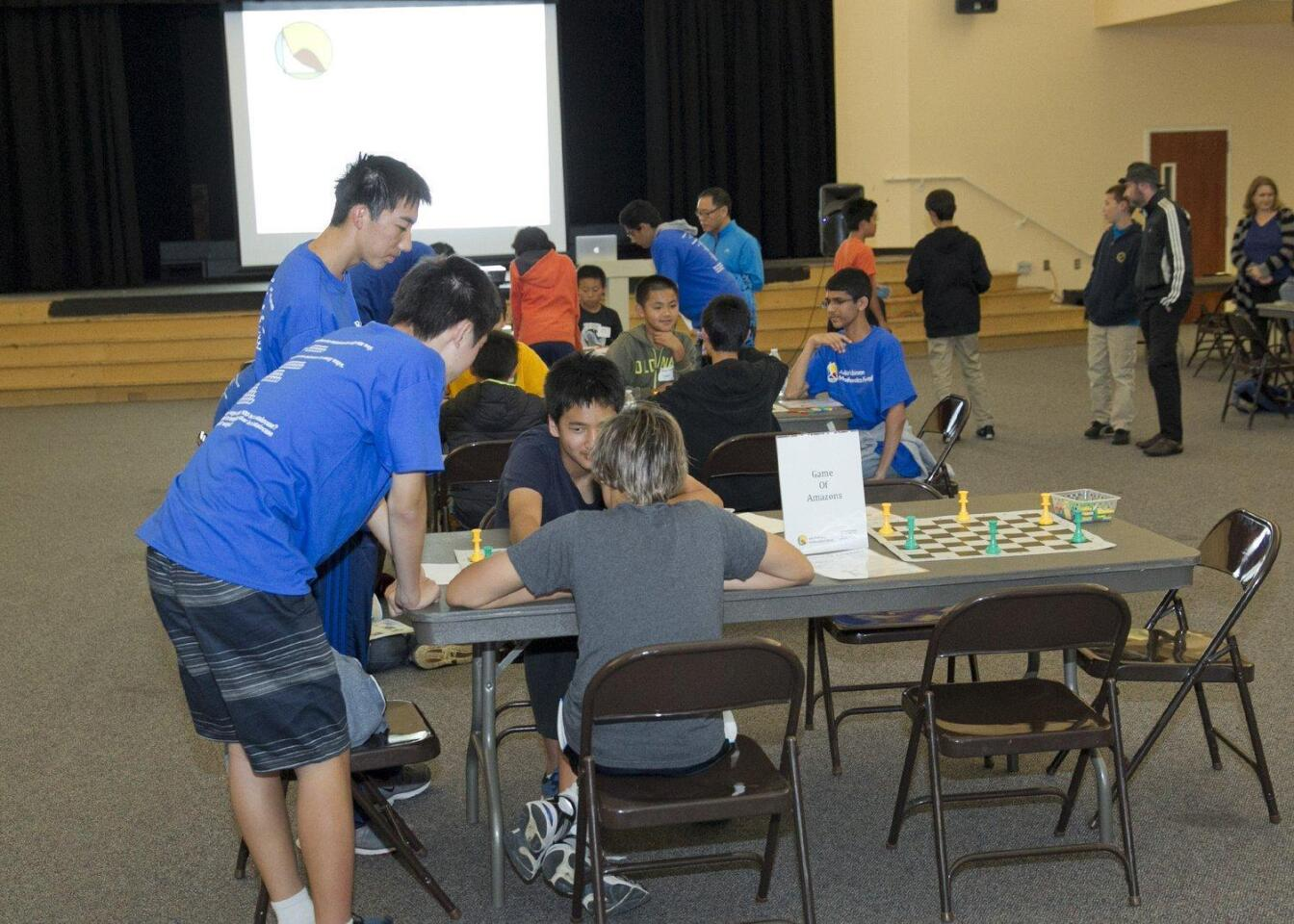 Julia Robinson Mathematics Festival held at Carmel Valley Middle School