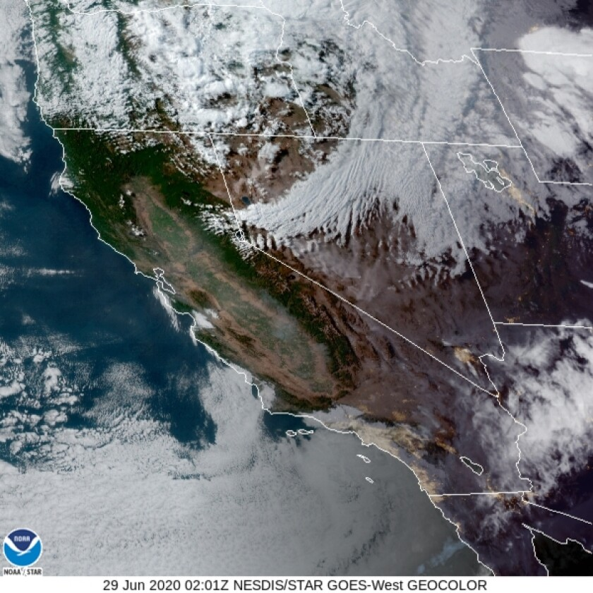 The clouds shrouded coastal areas most of the day Sunday.