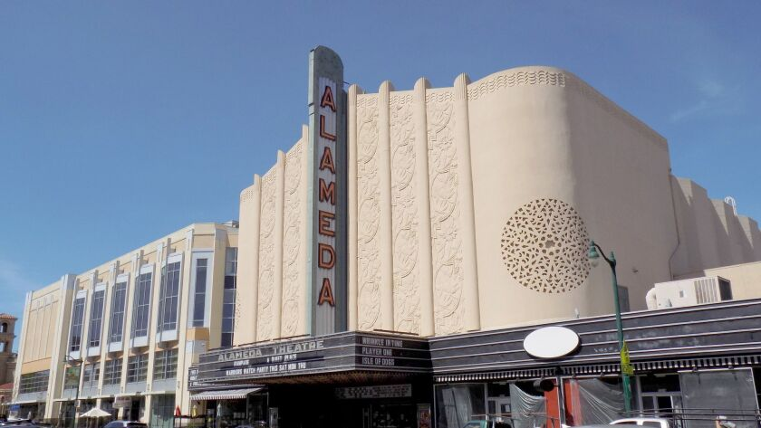 The 1930s art deco Alameda Theatre is a downtown landmark.