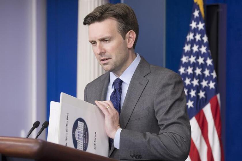 El portavoz de la Casa Blanca, Josh Earnest. EFE/Archivo