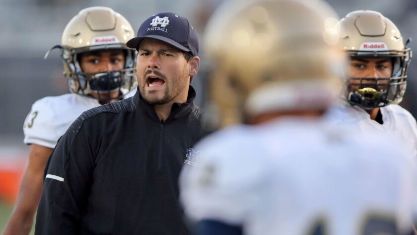 Mater Dei Catholic athletic director Jared Izidoro also serves as an assistant football coach.