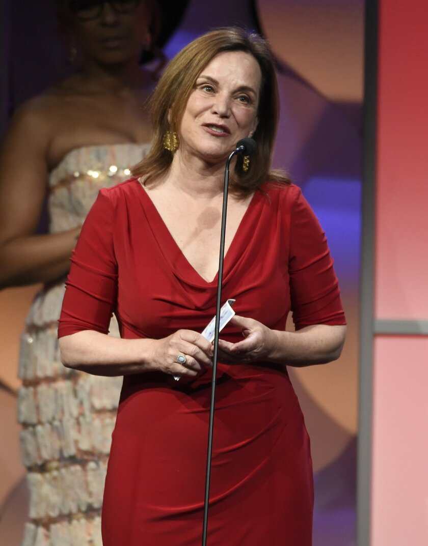 "FILE - In this May 19, 2015, file photo, Renee Montagne accepts the award for outstanding individual achievement, news magazine, for NPR's ""Morning Edition"" at the 40th Anniversary Gracies Awards at the Beverly Hilton Hotel o in Beverly Hills, Calif. NPR announced July 18, 2016, that Montagne would be stepping down as anchor of the program following the upcoming presidential election. (Photo by Chris Pizzello/Invision/AP, File)"
