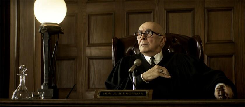 "Frank Langella as Julius Hoffman in ""The Trial of the Chicago 7."""