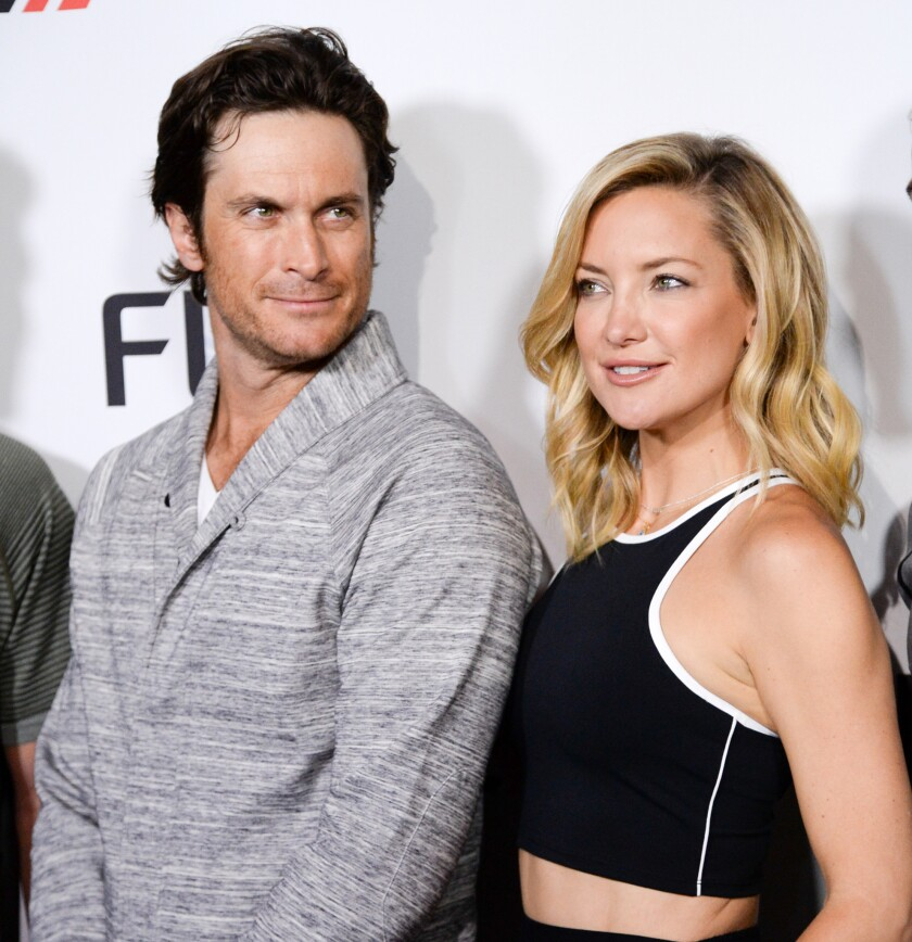 Oliver Hudson and Kate Hudson participate in the official launch of FL2 Active Wear by Fabletics at the Gramercy Park Hotel in New York on June 4.