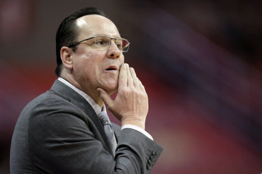 Wichita State coach Gregg Marshall watches from the sideline during the second half of the team's NCAA college basketball game against Illinois State on  Saturday, Feb. 6, 2016, in Normal, Ill. Illinois State won 58-53. (AP Photo/Stephen Haas)