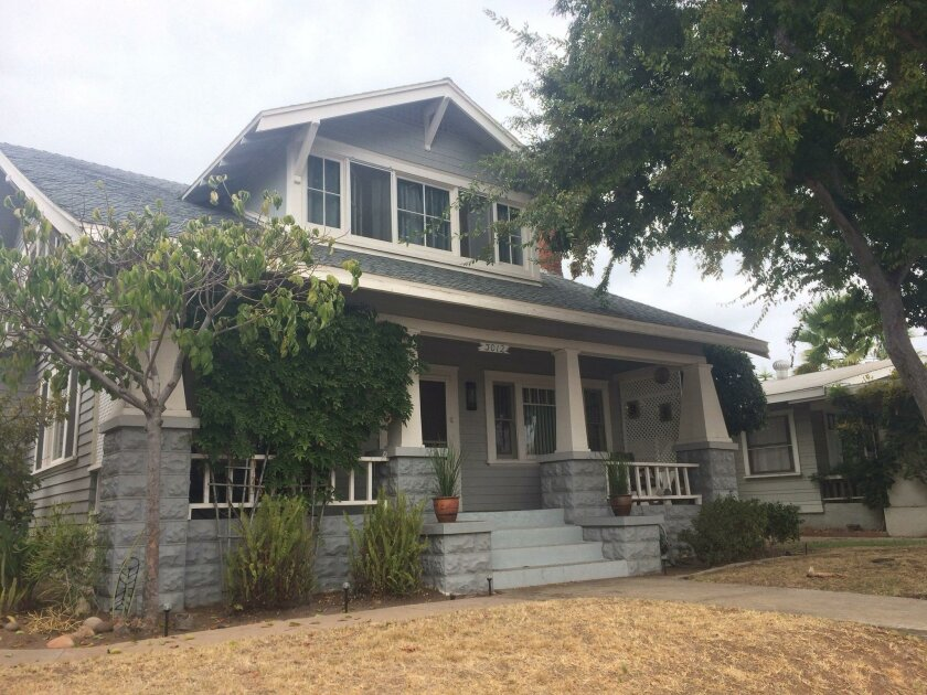 San Diego County median home price is up 6.4 percent over the last 12 months, said the S&P CoreLogic Case-Shiller Indices. Pictured: North Park home on Dale Street in August 2016.