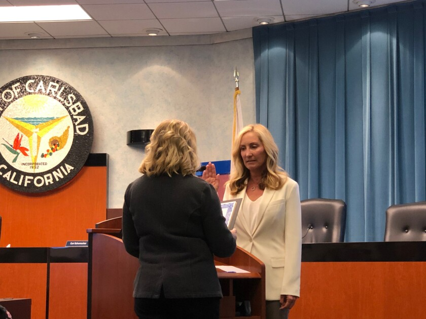 Solana Beach City Councilwoman Kristi Becker was one of three Clean Energy Alliance Board members and one alternate who were sworn in Nov. 5.