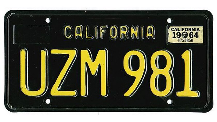 The California Department of Motor Vehicles offers no wiggle room when it comes to license plates.