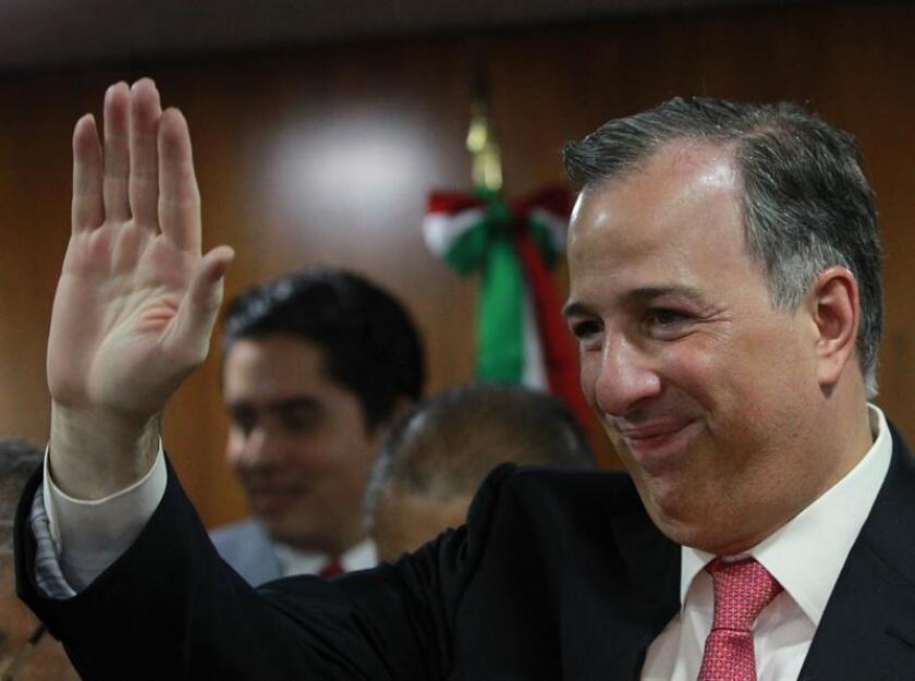 El exministro José Antonio Meade se registró hoy oficialmente como precandidato del Partido Revolucionario Institucional (PRI) a la Presidencia de México, siendo el único que optará por esta candidatura dentro del oficialismo. EFE/ARCHIVO