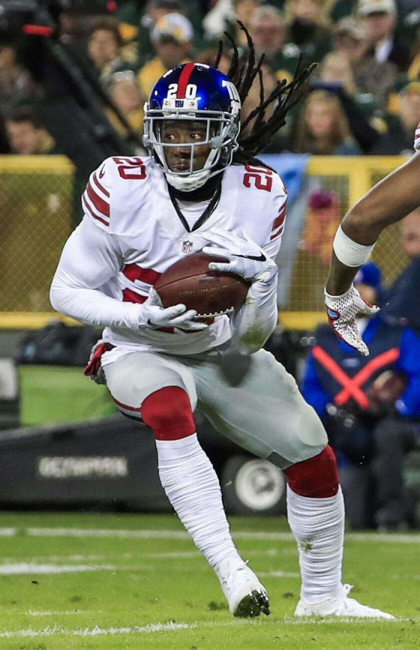 En la imagen, el jugador de los Giants de Nueva York Janoris Jenkins. EFE/Archivo