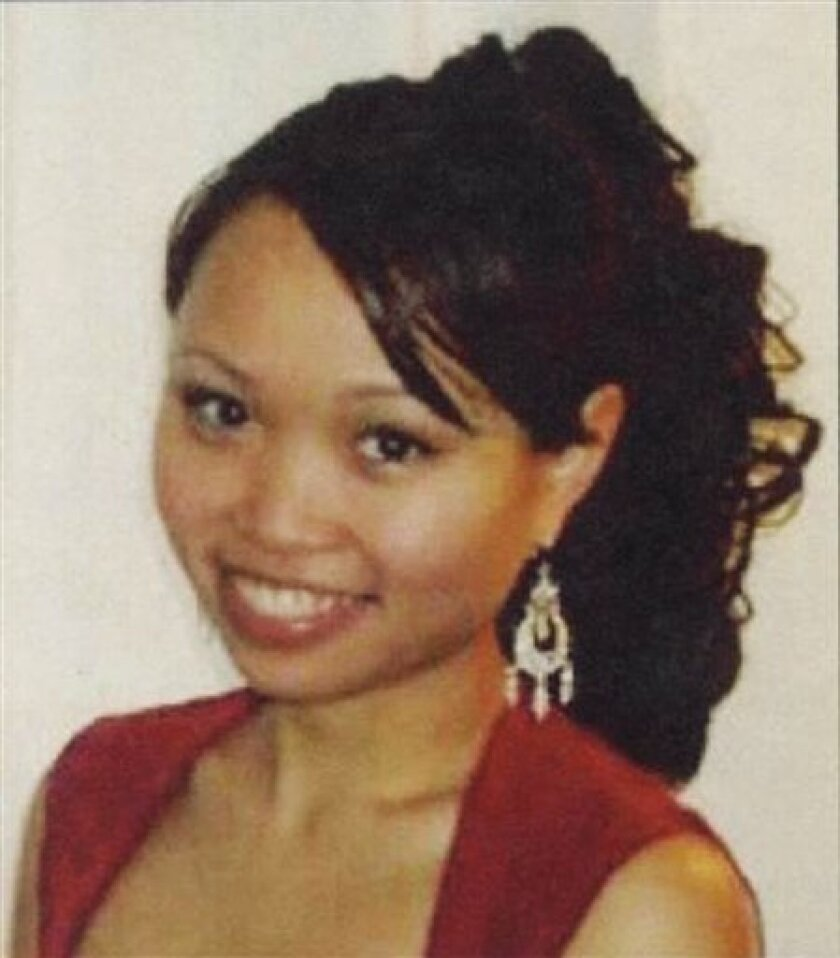 This undated photo released by New Haven Police Dept., shows Yale graduate student Annie Le who disappeared on Sept. 8, 2009. Raymond Clark III, 24, a Yale lab technician was arrested Thursday Sept. 17, 2009 and charged with murdering the graduate student in the research building where they both wo