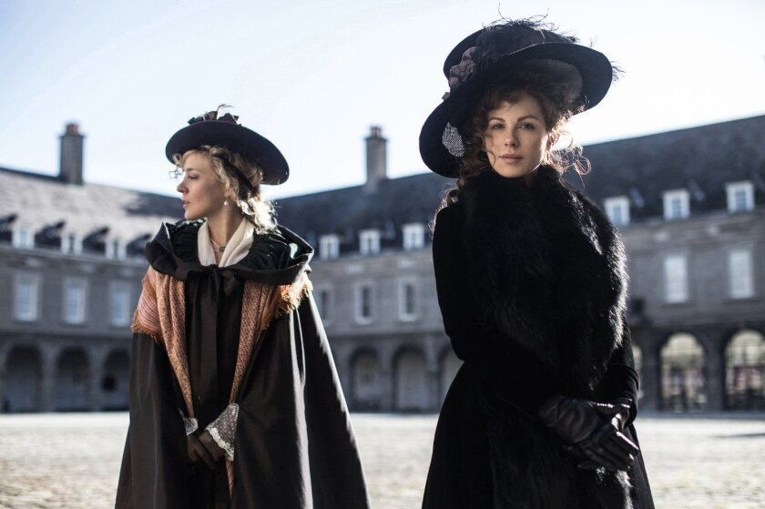 """Chloe Sevigny and Kate Beckinsale in a scene from the summer release """"Love and Friendship."""""""