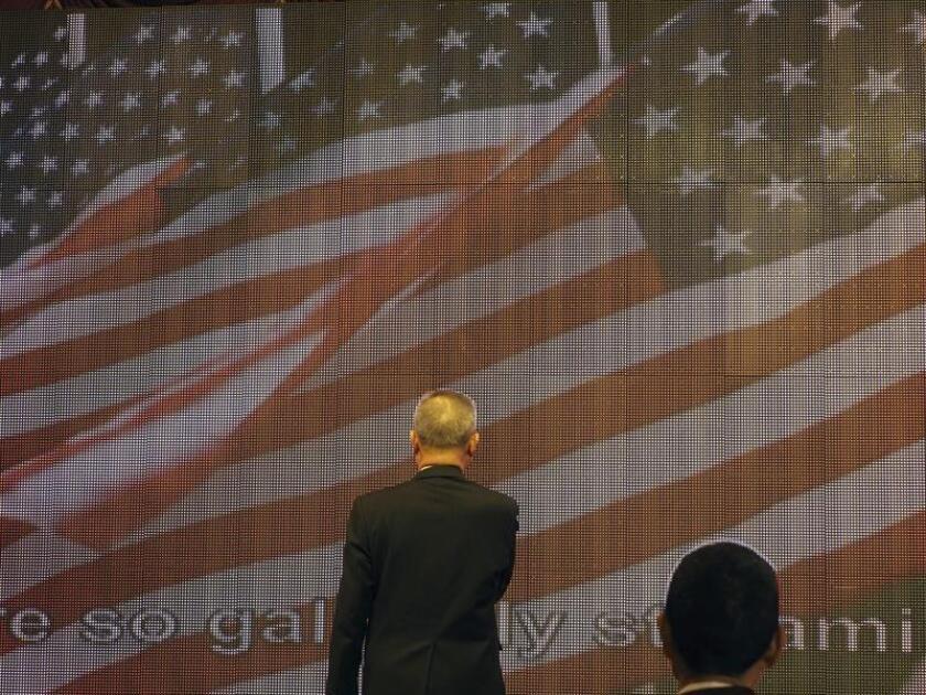 El presidente provisional taiwanés, Gavin C. Y. Tsai, juraba lealtad a Estados Unidos en una reunión con los miembros del Gobierno taiwanés, el pasado 12 de enero. EFE