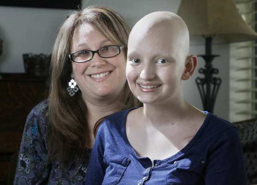 Teen battles cancer with a smile