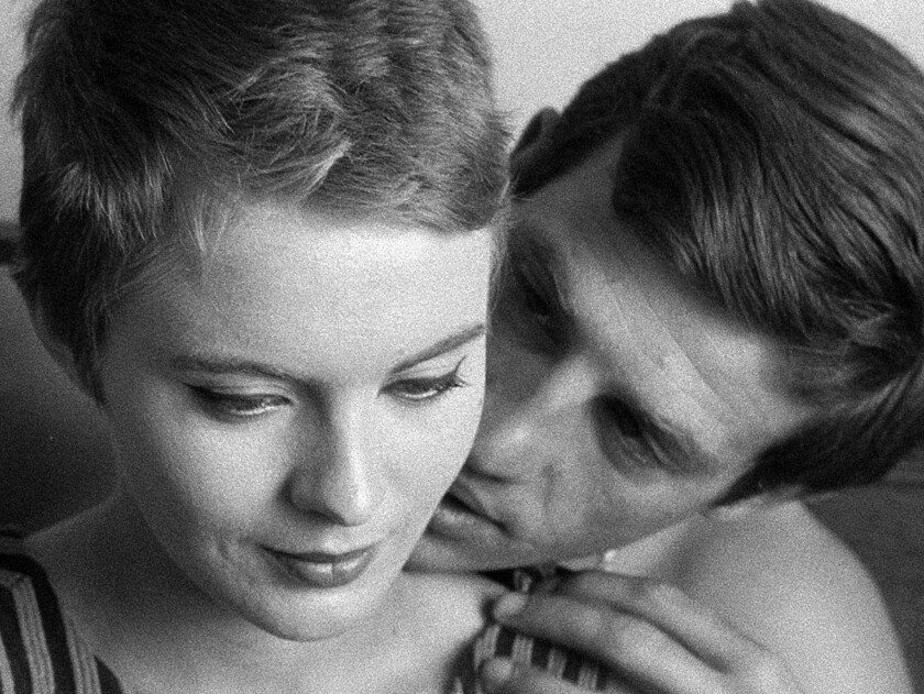 Jean Seberg and Jean–Paul Belmondo in the 1960 movie 'Breathless'