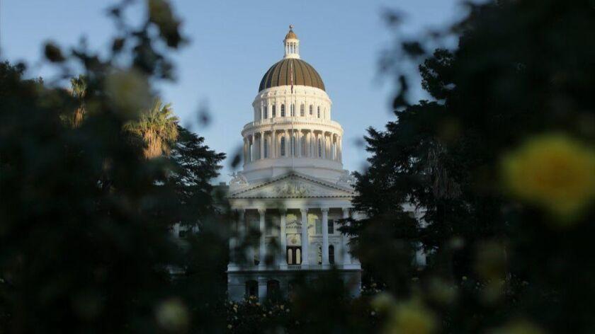 The California Capitol building in Sacramento.