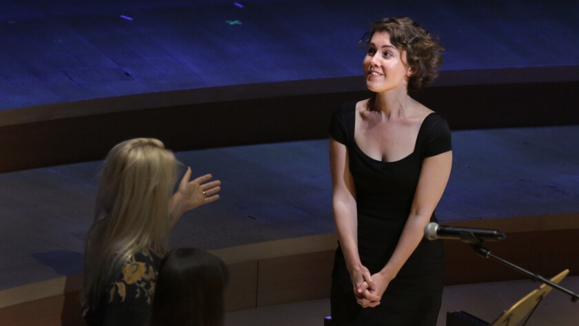 Caroline Shaw with the Los Angeles Philharmonic in 2015.