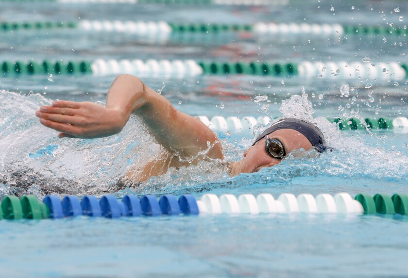 La Costa Canyon senior Noelle Harvey goes for repeat titles in the girls D-II 100 free and 100 back.