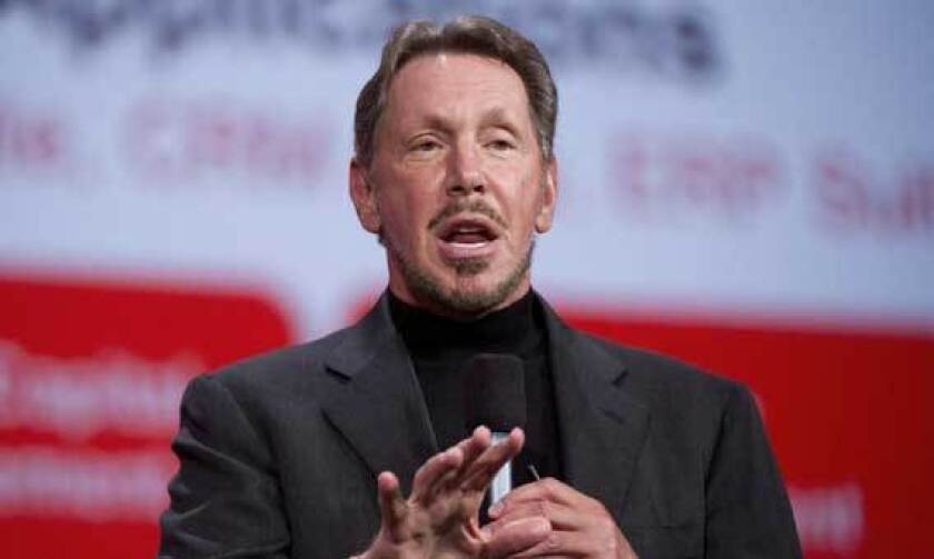 Larry Ellison, chief executive officer of Oracle Corp., speaks in October during the Oracle OpenWorld 2012 conference in San Francisco.