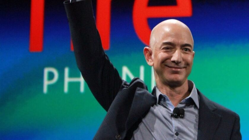 Amazon CEO Jeff Bezos in Seattle in a June 2014 file image. Amazon announced it is planning to build