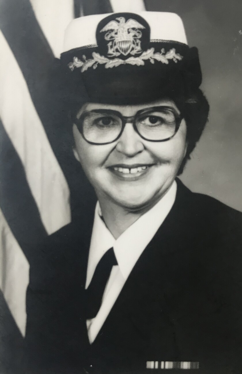 Jordine Von Wantoch in her official portrait when she achieved the rank of captain in the U.S. Navy in November 1978.