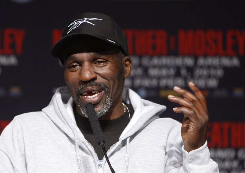 FILE - In this April 28, 2010, file photo, boxer Floyd Mayweather Jr.'s trainer and uncle, Roger Mayweather, speaks during a news conference at the MGM Grand in Las Vegas. Las Vegas police say Roger Mayweather is missing. He was last seen around 3 p.m. Saturday, July 30, 2016, less than a mile away